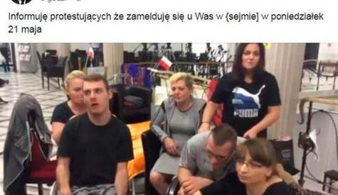 Lech Wałęsa odwiedzi protestujących